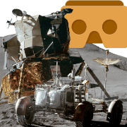 Apollo 15 moon landing app logo